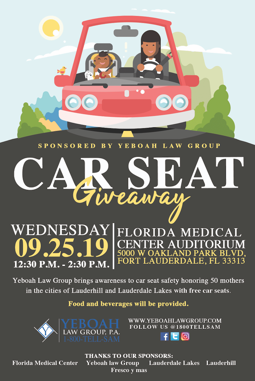Car Seat Giveaway, Sponsored By Yeboah Law Group!